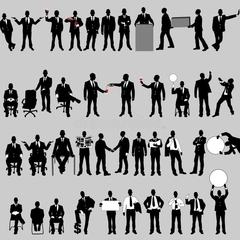 Mega kolekcja czterdzieści biznesowy mężczyzna royalty ilustracja