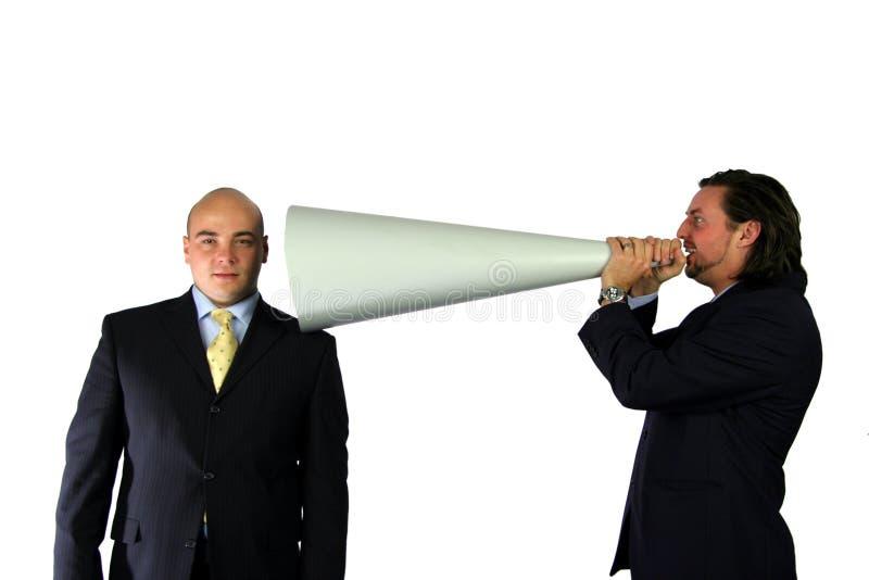 Mega mededeling stock foto's