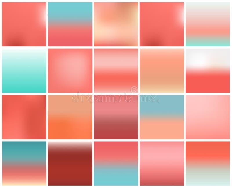 Mega paczka 20 zamazany abstrakcjonistyczny tło Pastelowy brzmienie koloru kolekcji set Tapeta i tekstury poj?cie Popularny panto obraz royalty free