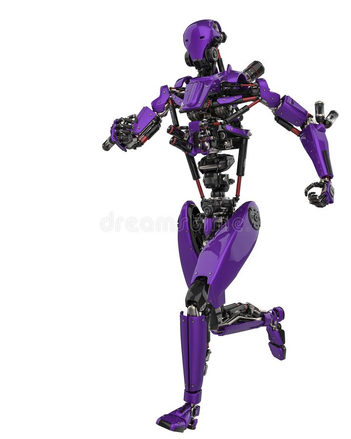 Mega purple robot super drone in a white background. This super robot will put some fun in yours creations, 3d illustration vector illustration