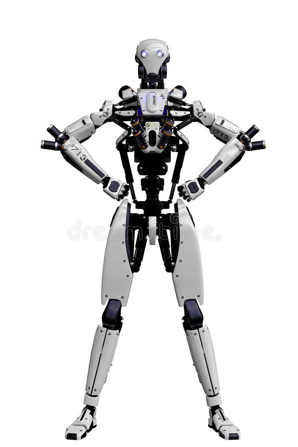 Mega robota super truteń w białym tle ilustracji