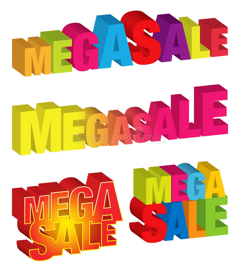 Mega Sale vector illustration
