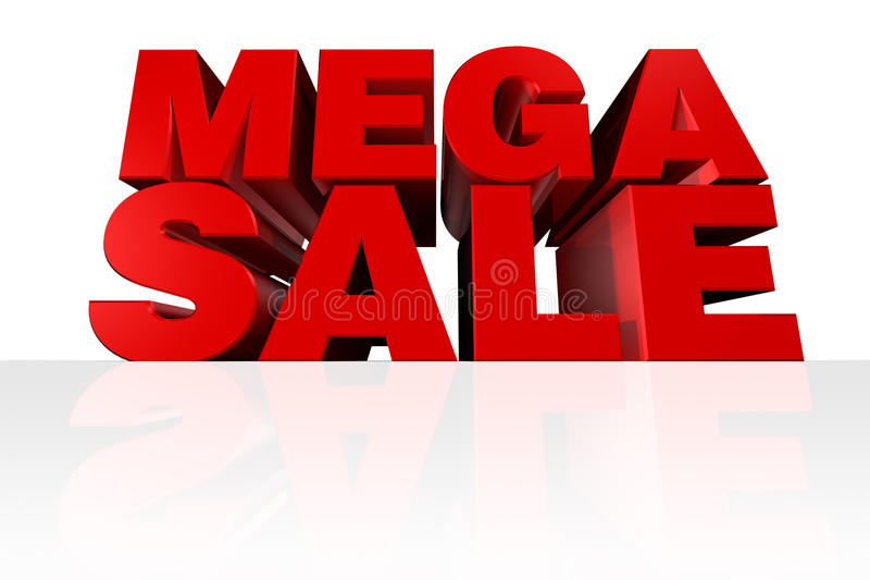 Mega Sale Headline vector illustration