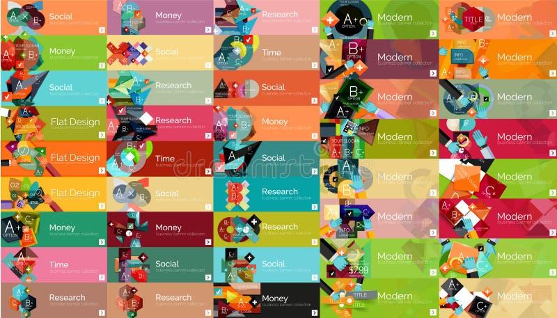 Mega samling av infographic begrepp för plan rengöringsduk stock illustrationer