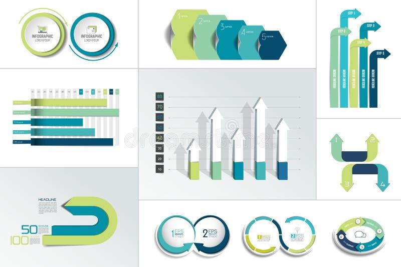 Mega- Satz von Infographic-Element vektor abbildung
