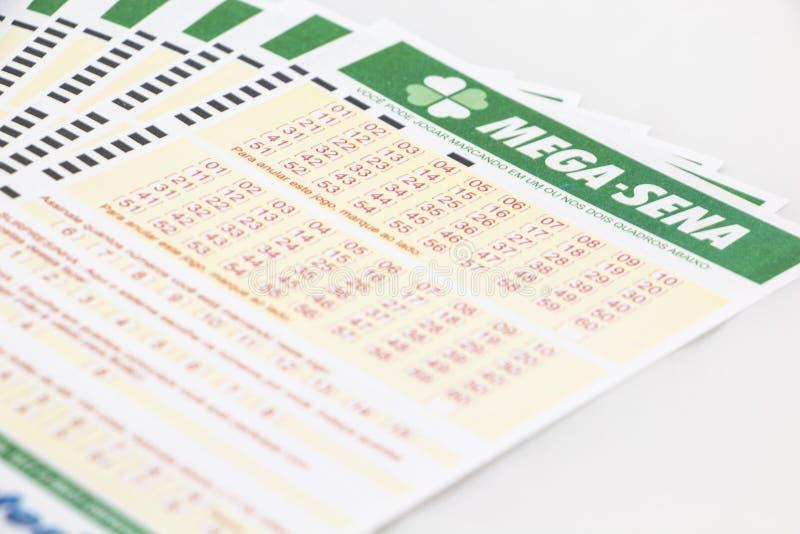 Mega-Sena - lotería brasileña foto de archivo libre de regalías