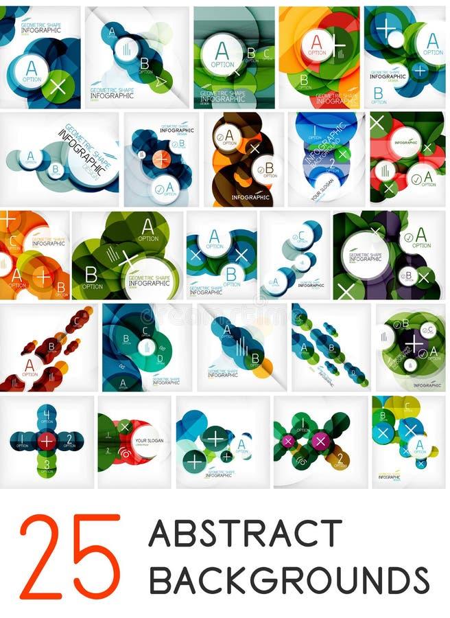 Mega Set Of Circle Geometric Backgrounds Stock Photography