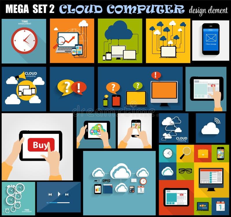 Mega Set Flat Computer Design Vector Illustration vector illustration