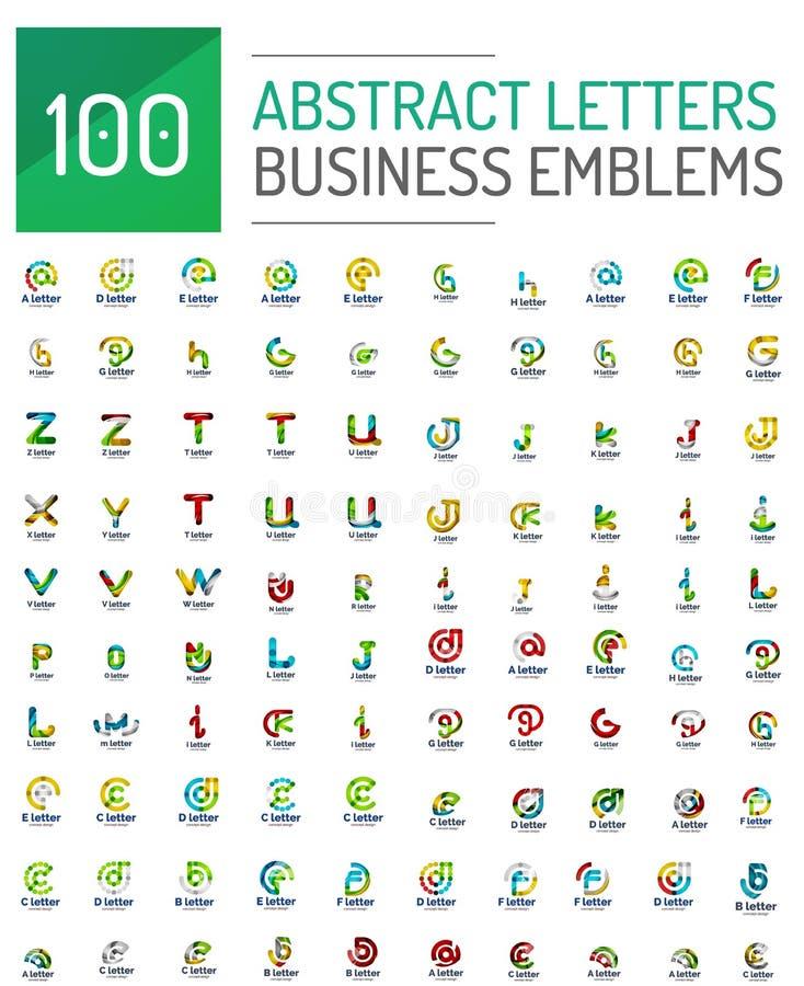 Mega set of letter logo icons vector illustration