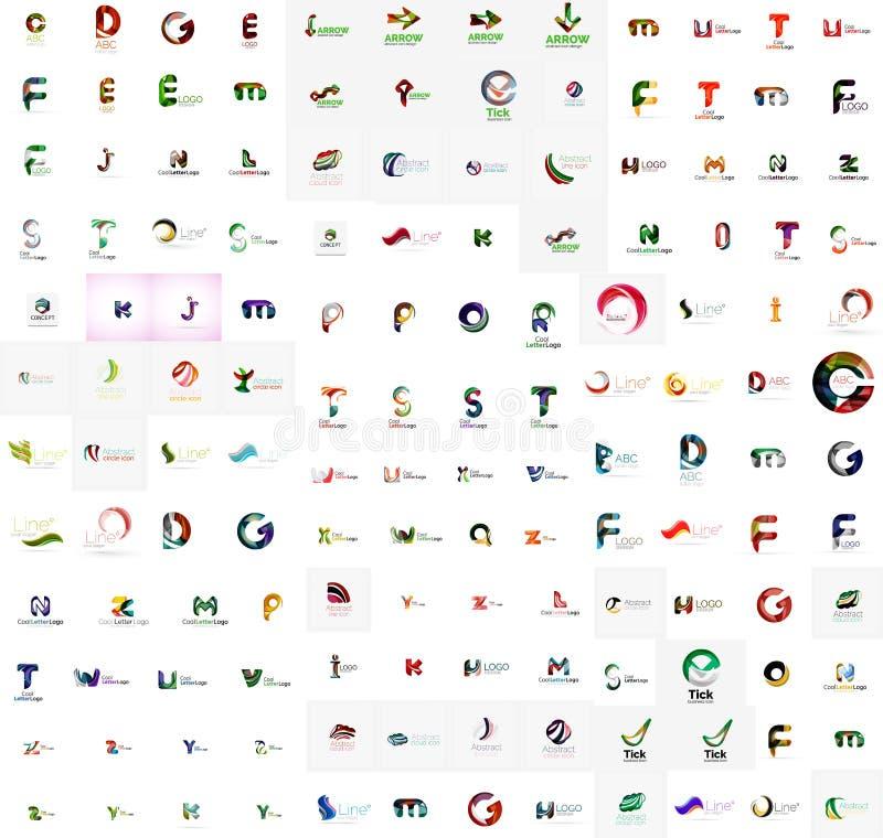 Mega set of letter logos royalty free illustration