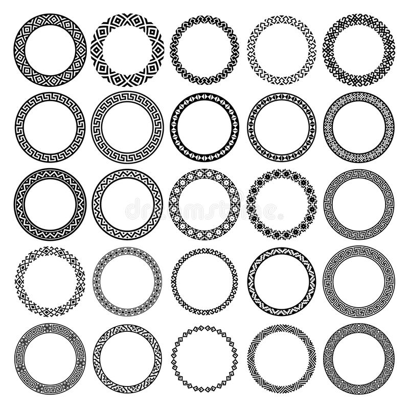 Mega Set Of 25 The Most Popular Round Frames Stock Vector ...