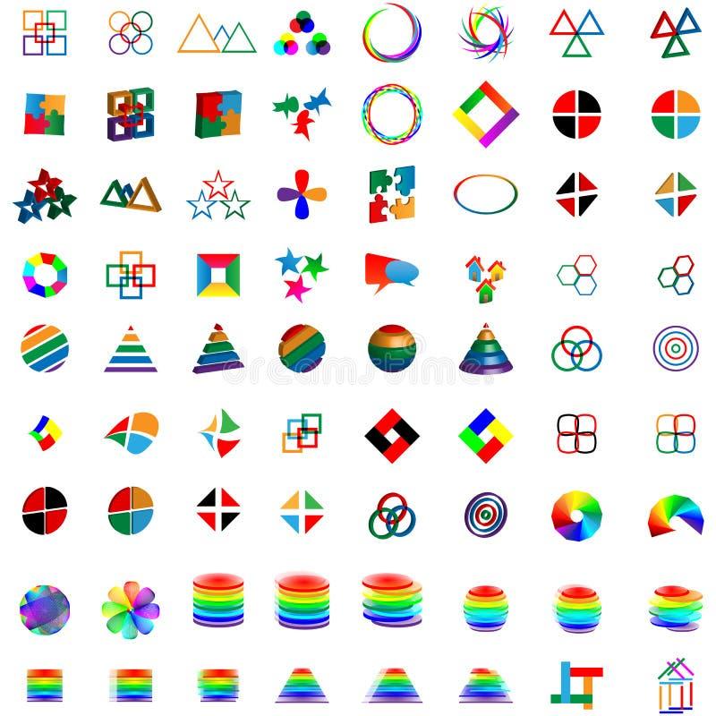 Free Mega Set Of Logos 25.04.13 Royalty Free Stock Images - 30608509