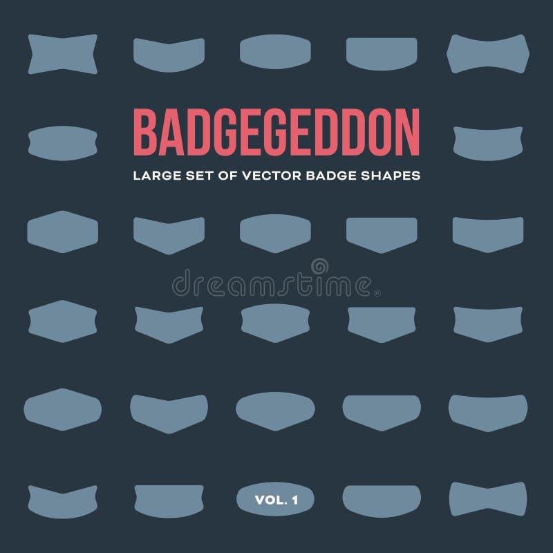 Free Mega Set Of Vintage Badge Shapes And Logo Elements Stock Image - 44697881