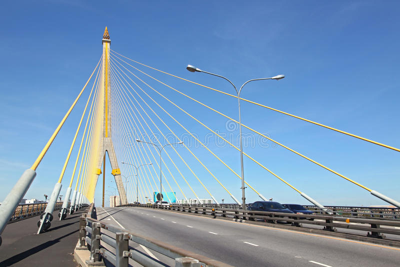 Download Mega sling Bridge,Rama 8 stock image. Image of container - 16655037