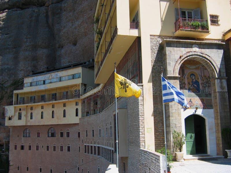 Mega spileo monastery Kalavryta Peloponnese Greece. Europe stock image