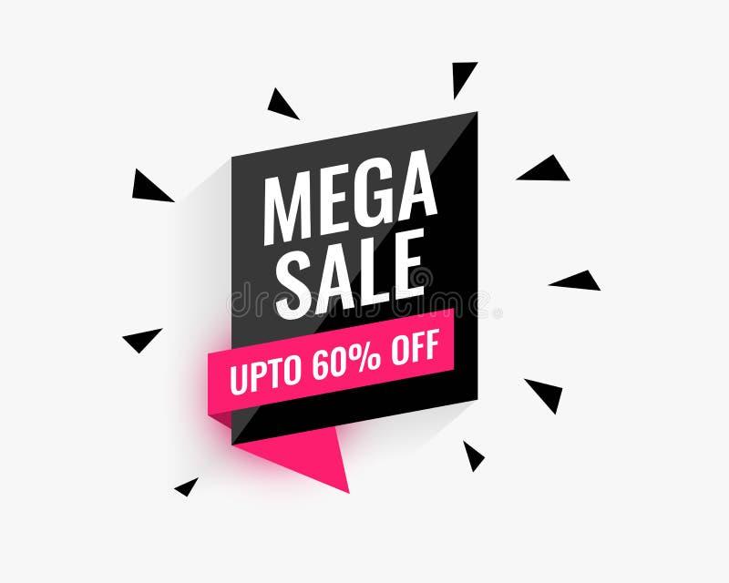 Mega sprzedaż sztandaru projekt dla twój biznesowej promocji royalty ilustracja