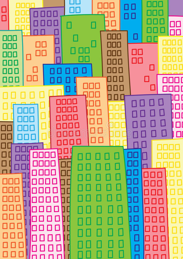 Mega stad stock illustratie