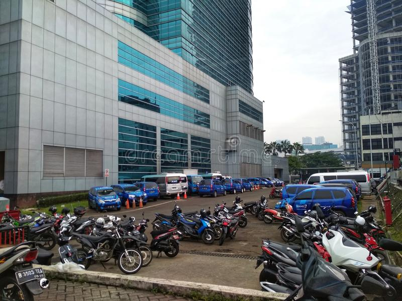 Mega Tower and Parking royalty free stock photos