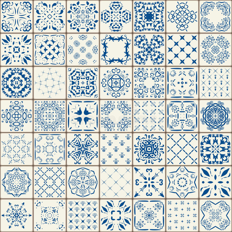 Mega ursnygg sömlös patchworkmodell från färgrika marockanska tegelplattor, prydnader Kan användas för tapeten, påfyllningar, web arkivfoto