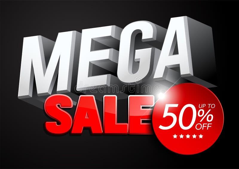 Mega- Verkaufs-Entwurf 3D stock abbildung