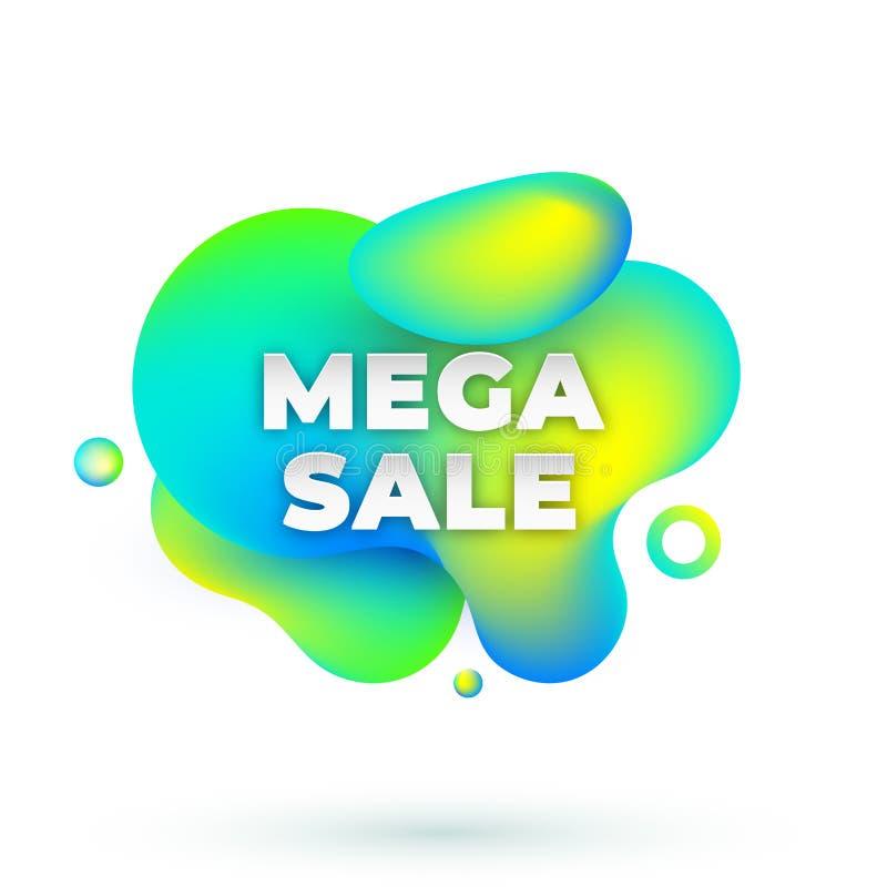 Mega- Verkaufsamöbe stock abbildung