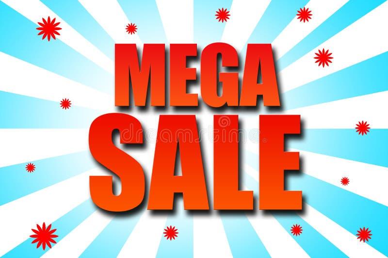 Mega- Verkaufsschablonendesign stockfotos