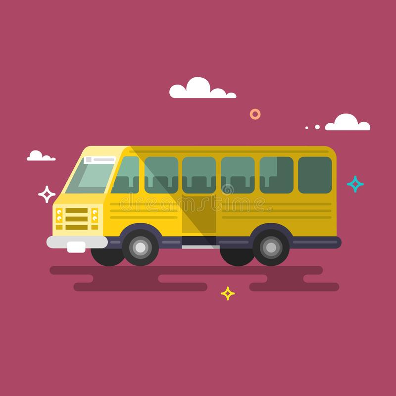 megabus Diseño plano stock de ilustración