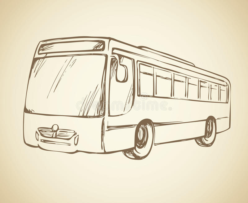 megabus Gráfico del vector stock de ilustración