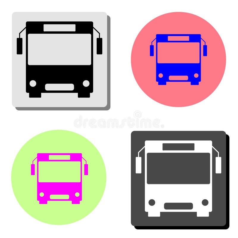 megabus Icono plano del vector stock de ilustración