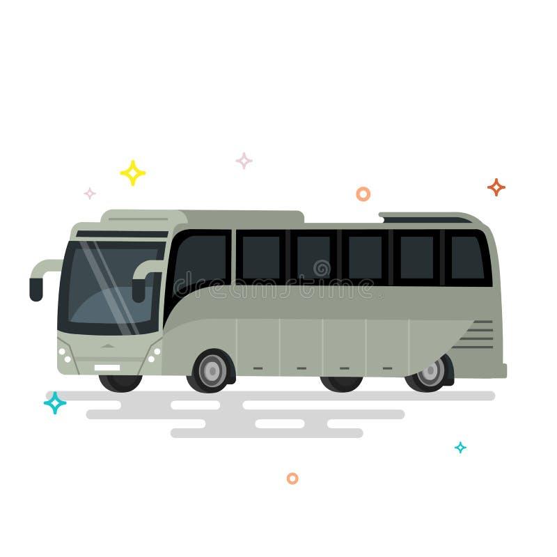 megabus Transporte público del diseño plano fresco internacional libre illustration
