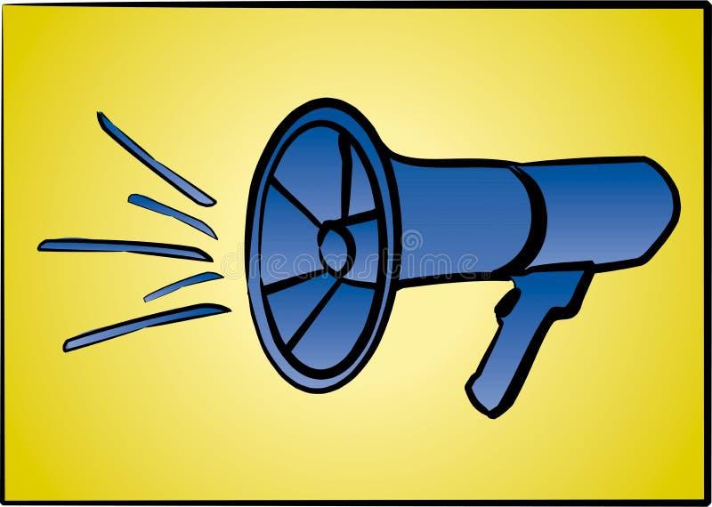 Download Megafon ilustracji. Ilustracja złożonej z głośny, mowa - 136919