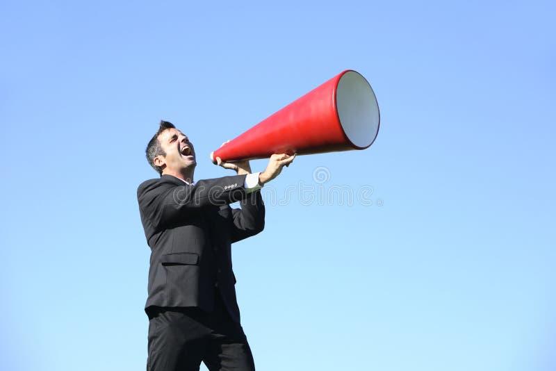 megafon biznesmena fotografia stock
