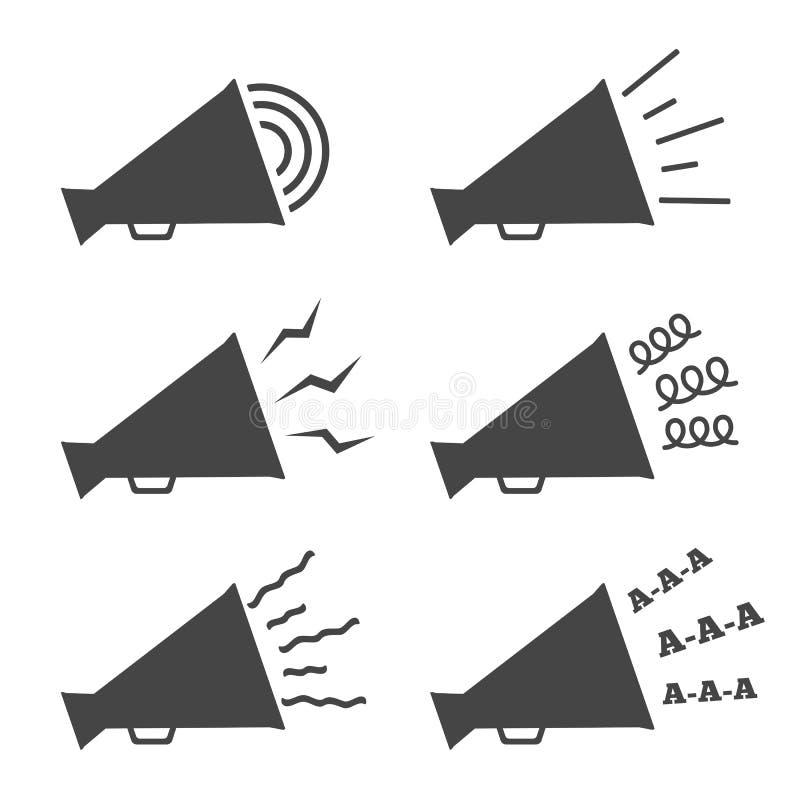Megafon ikony ilustracji