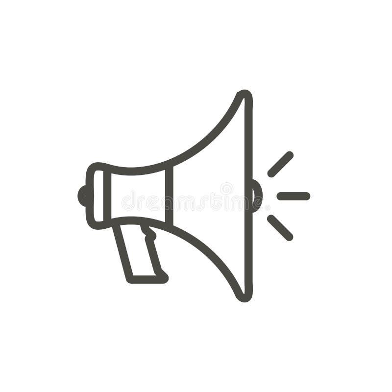 Megafon ikony wektor Kreskowy głośnikowy symbol ilustracja wektor