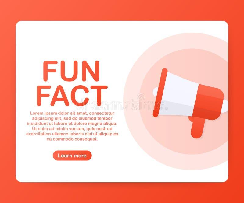 Megafon ręka, biznesowy pojęcie z tekst zabawy fact również zwrócić corel ilustracji wektora royalty ilustracja