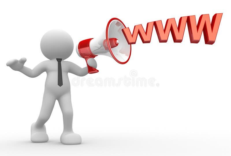 Download Megafone ilustração stock. Ilustração de comunique, promotion - 26505529