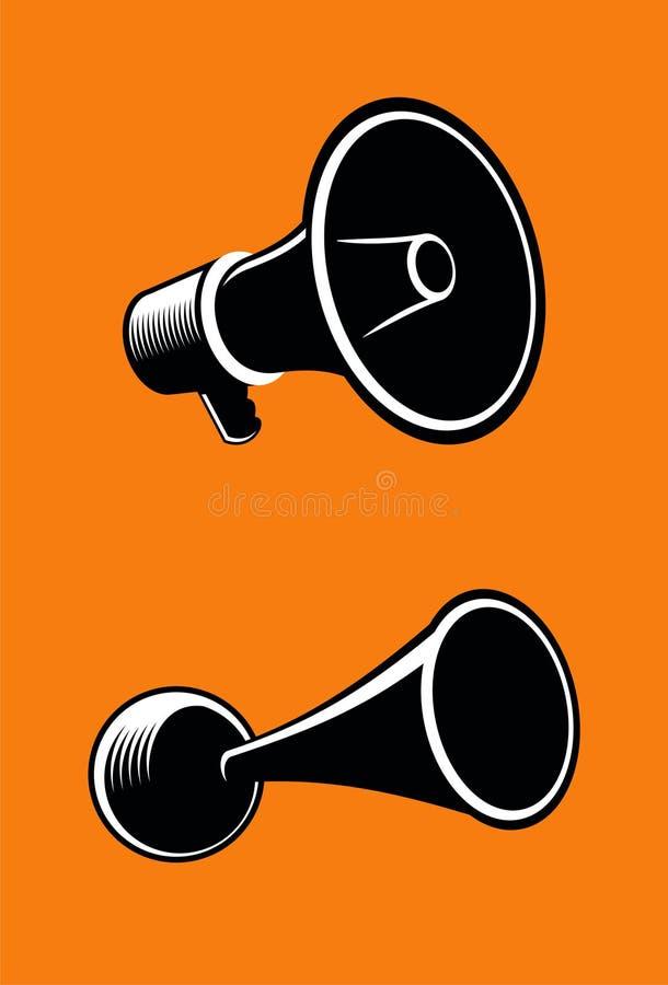 Megafone ilustração stock