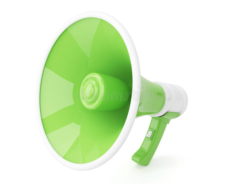 megafone 3d imagem de stock royalty free