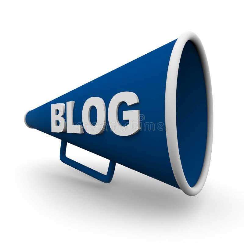 Megafone do blogue - isolado ilustração do vetor