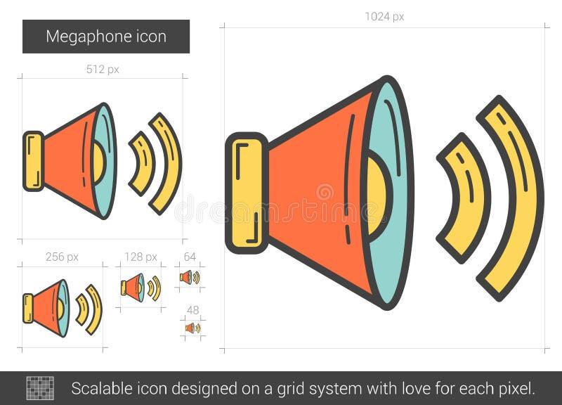 Megafonlinje symbol vektor illustrationer