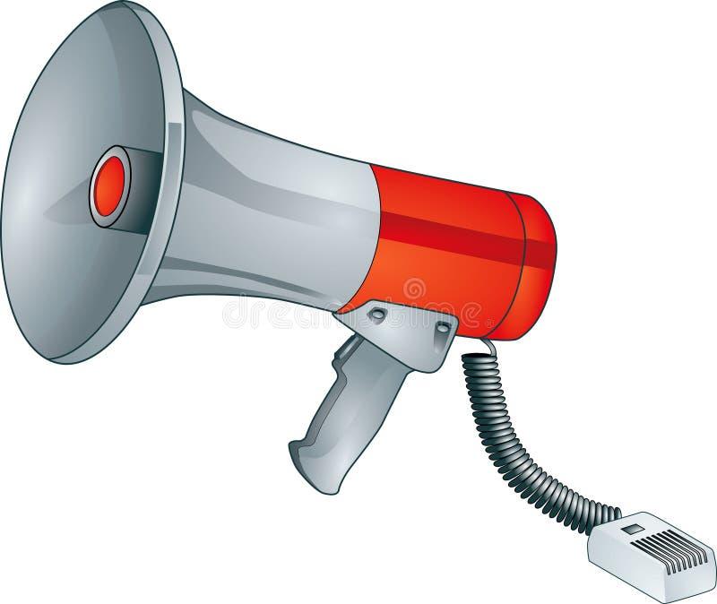 Megafono illustrazione di stock