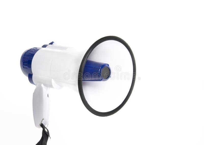 Megafono dell'altoparlante fotografia stock