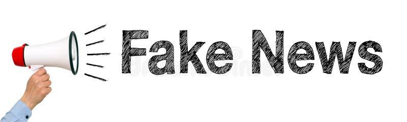 Megafono falso di notizie fotografia stock