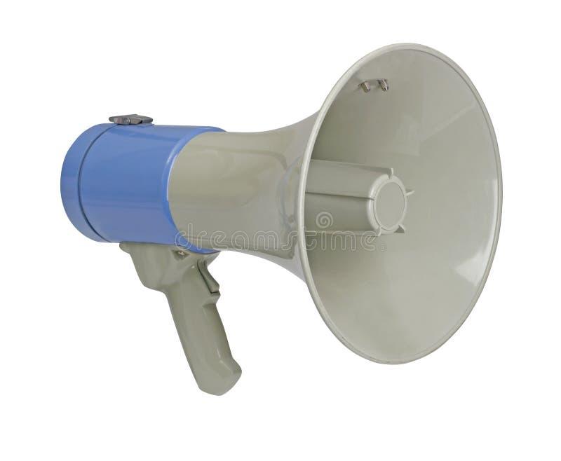 Megafono su bianco con il percorso fotografie stock