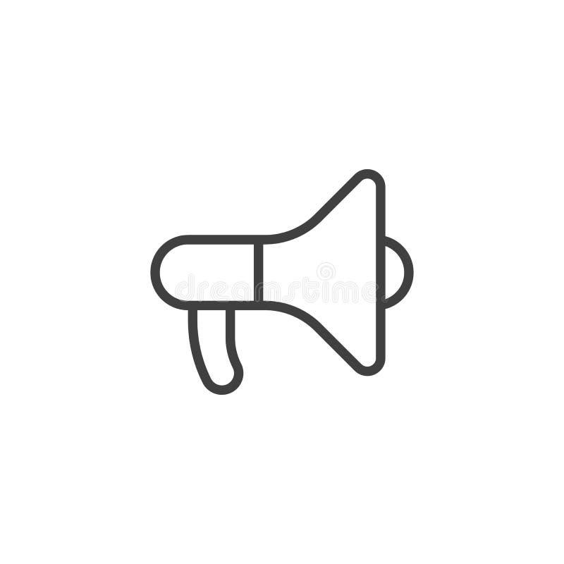 Megafonu mówcy linii ikona ilustracji