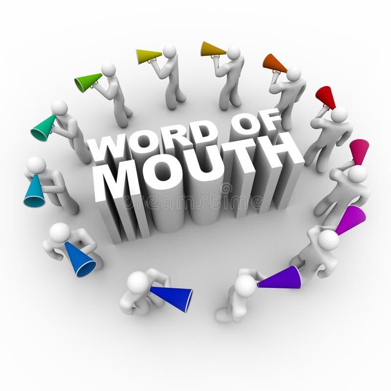 megafony mouth ludzi słów ilustracja wektor