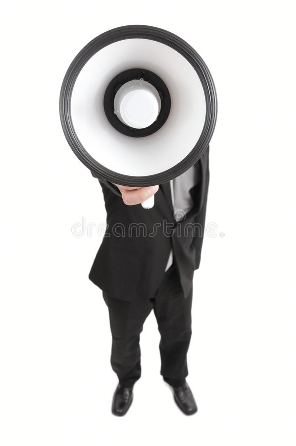 Megafoon stock afbeelding