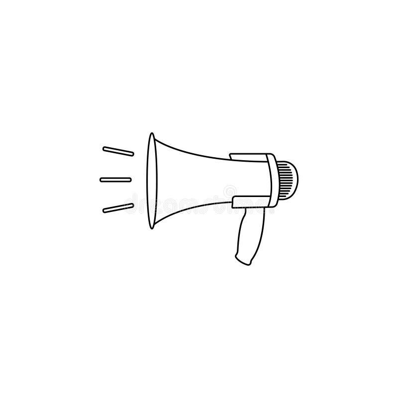 Megafoon, het pictogram van de luidsprekerslijn royalty-vrije illustratie
