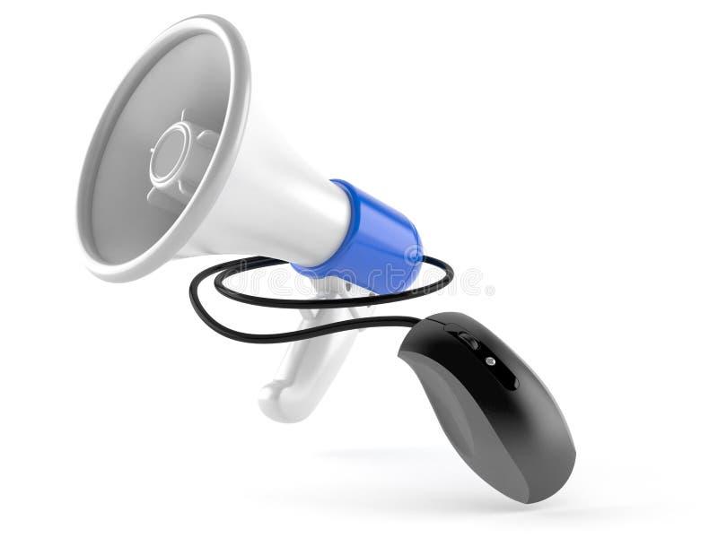 Megafoon met computermuis vector illustratie