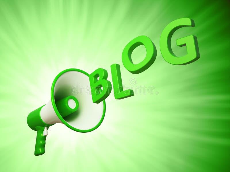 Megafoon met het teken Blog stock illustratie